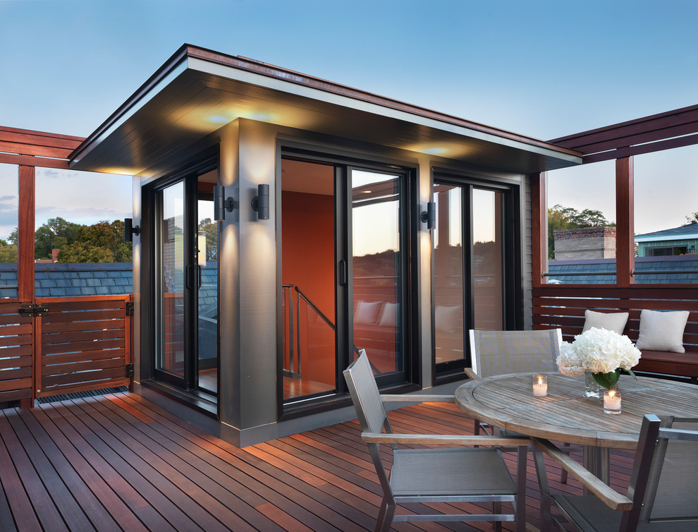 Rooftop Mahogany Deck - Modern - Deck - Boston - by Flavin ...