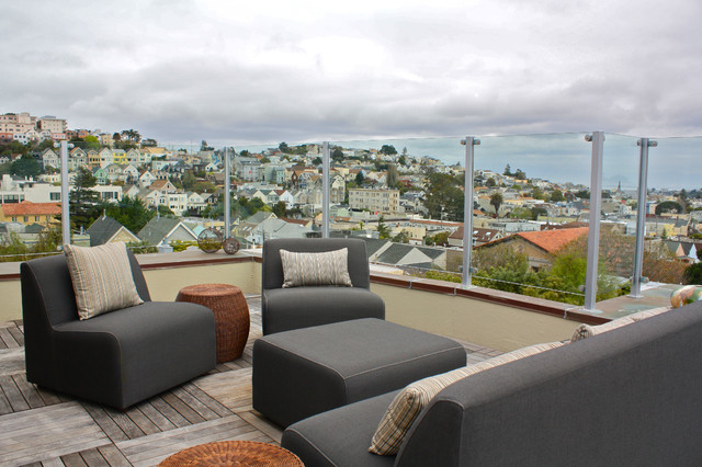 Rooftop patio contemporary deck san francisco by for Apartment terrace furniture