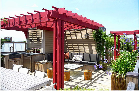 Rooftop Pergolas Contemporary Deck Boston By
