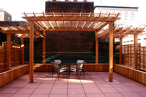 Rooftop Pergolas Traditional Deck Boston By