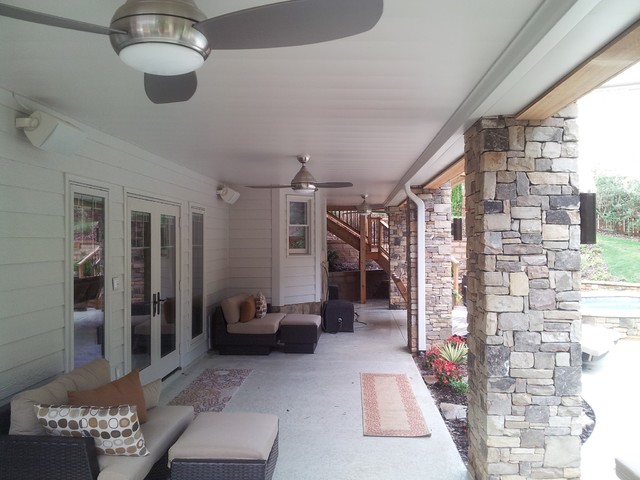 Roswell Backyard traditional-deck