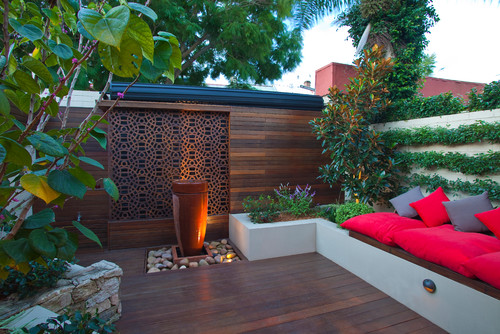16 ways to get more from your small backyard huffpost for Garden design ideas houzz