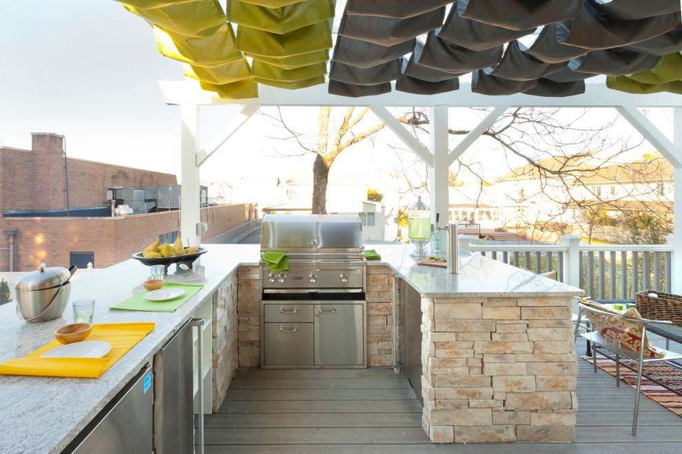 Deck - eclectic deck idea in New York
