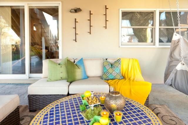 Ruppert Backyard eclectic-deck