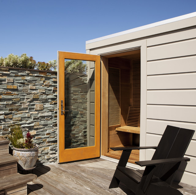 Sauna contemporary patio