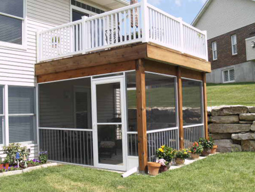 Screen rooms and features traditional deck st louis for Porch rooms