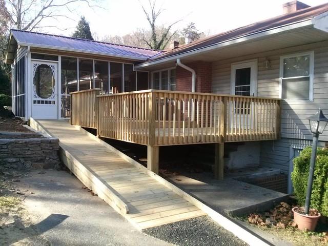 Metal Roof Deck And Handicap Ramp