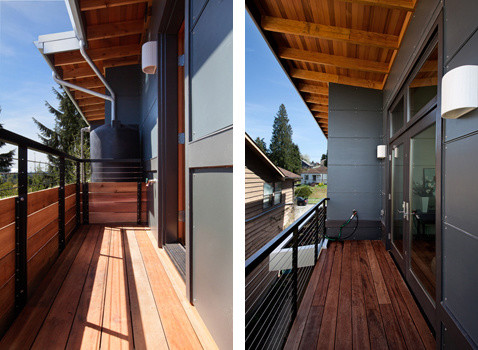 Seattle Green Custom Home contemporary-deck