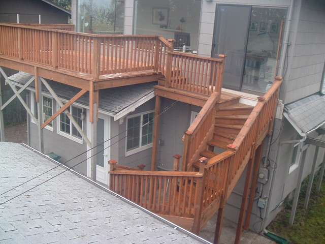 Second Story Deck With Stairs