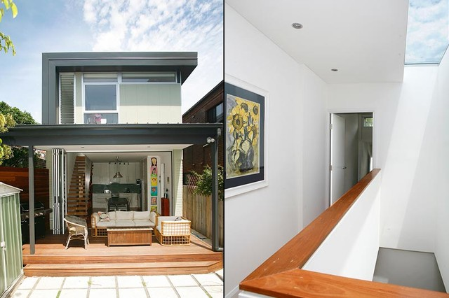 Skylit Semi Maroubra Semi Detached House Contemporary Deck Sydney By Edifice Design Architects Sydney Houzz Au