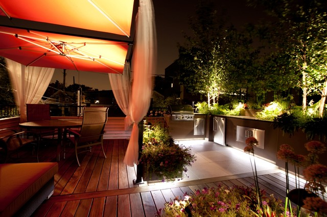 Small Chicago Garage Rooftop Modern Deck Chicago