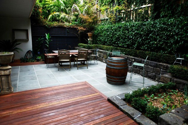 small patio in melbourne modern deck