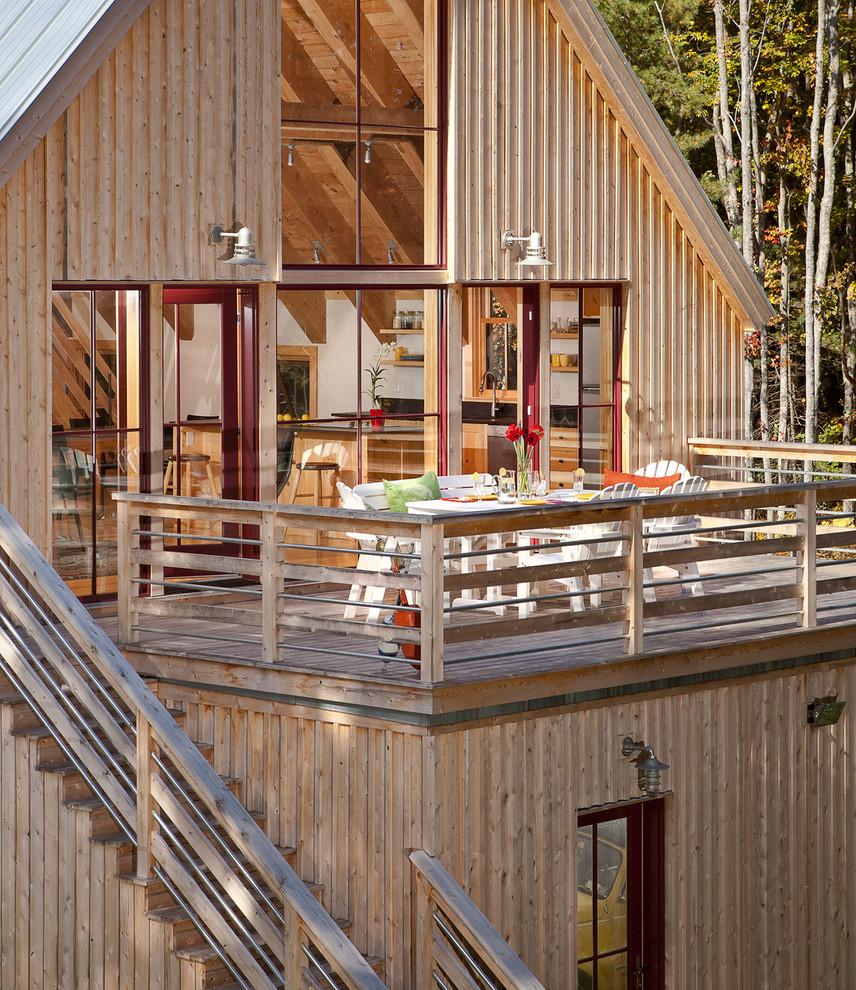 Solar Barn - Deck Addition - Farmhouse - Deck - Portland ...