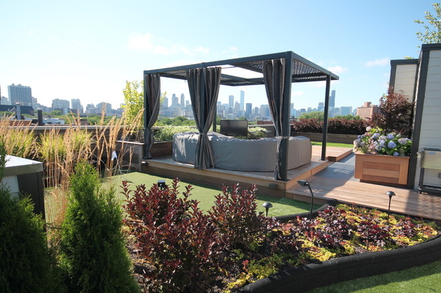SOTO HOUSE - Contemporain - Terrasse en Bois - Chicago - par ...