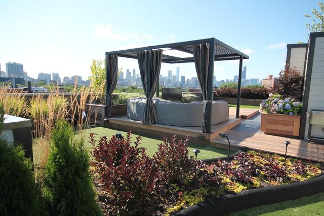 Soto house modern terrasse chicago von chicago green design inc for Terrasse moderne contemporain