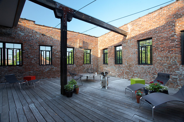 soulard loft apartment industriel terrasse en bois et On terrasse et loft