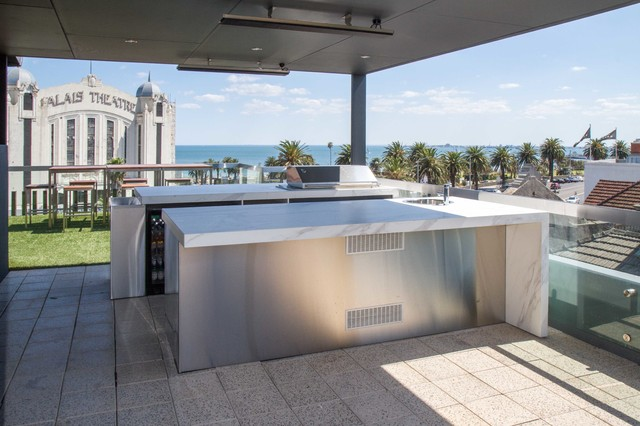 St Kilda Rooftop Terrace Teppanyaki Bar Modern Deck Melbourne By The Kitchen Design