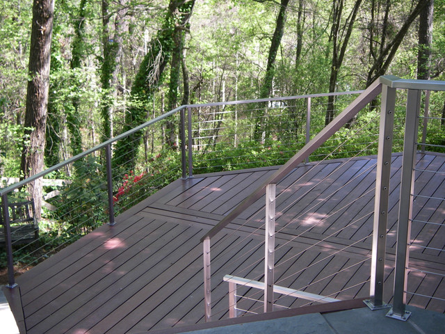 Stainless Steel Cable Railing - Rectangle Top Tube (Exterior)