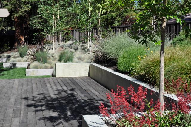 steel and concrete modern-landscape