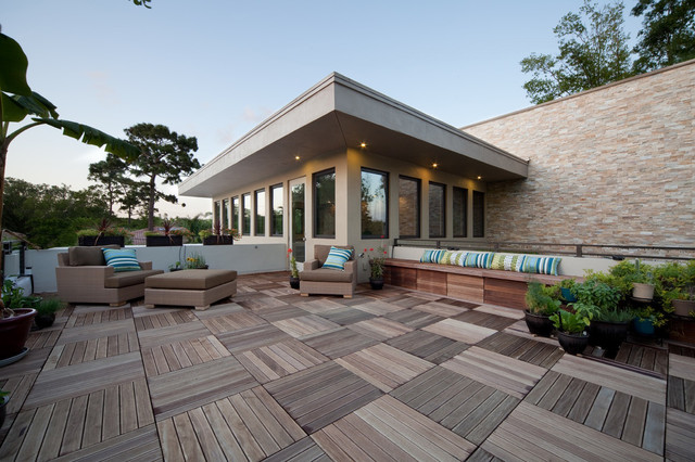 Suburban Contemporary Terrace Modern Deck Orlando