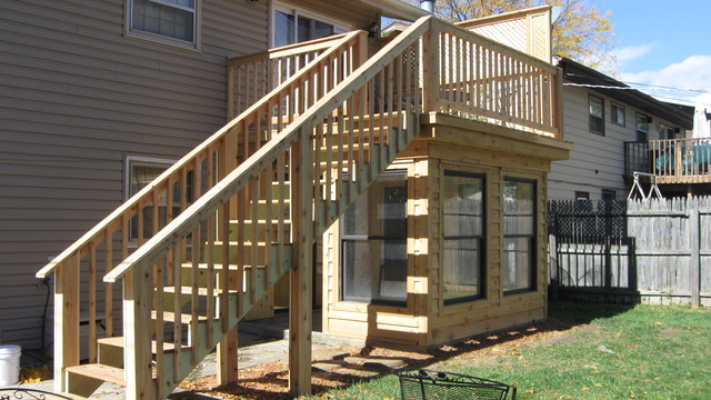 Sunroom And Deck Traditional Deck Milwaukee By Odd