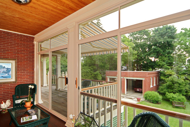 Sunroom And Retractable Awning On Existing Deck