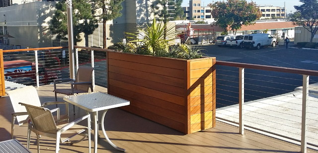 Surface Mounted Cable Railing Posts Modern Deck San
