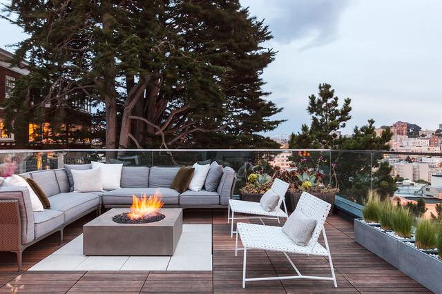 SVK Interior Design  Lombard  Transitional  Terrace  san francisco