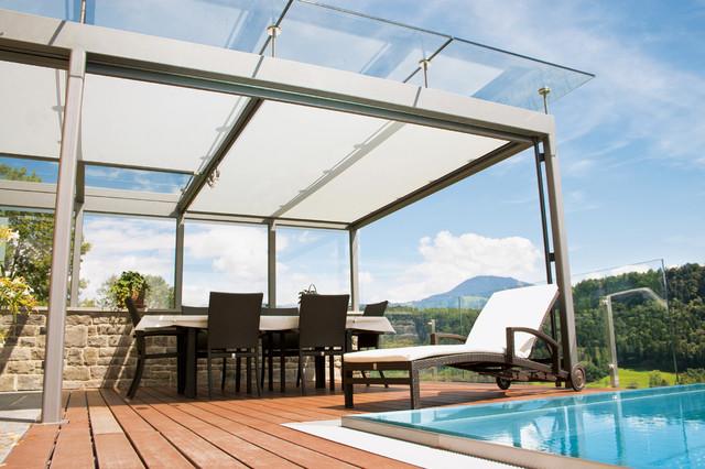 Tende da sole per giardini d 39 inverno - Giardino d inverno in terrazza ...