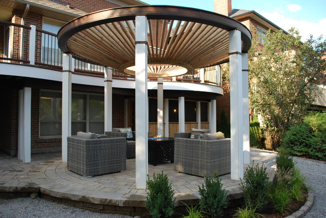 The Circular Pergola Deck - Modern - Deck - toronto - by ...