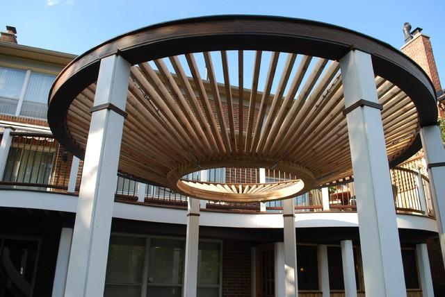 Circular Pergola the circular pergola deck modern deck toronto by paul