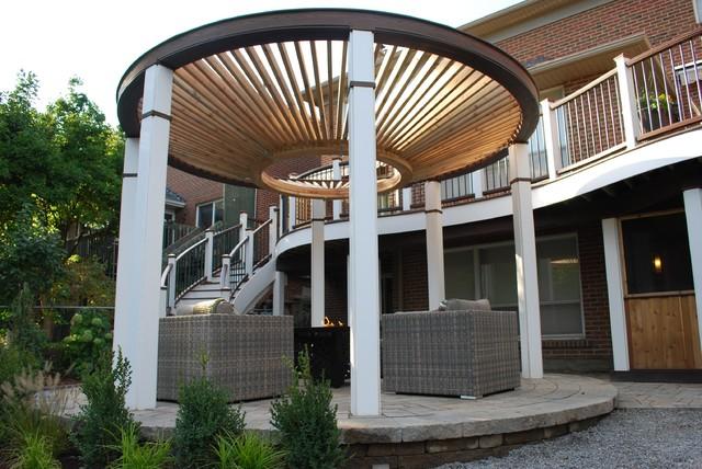 The Circular Pergola Deck Modern Toronto By