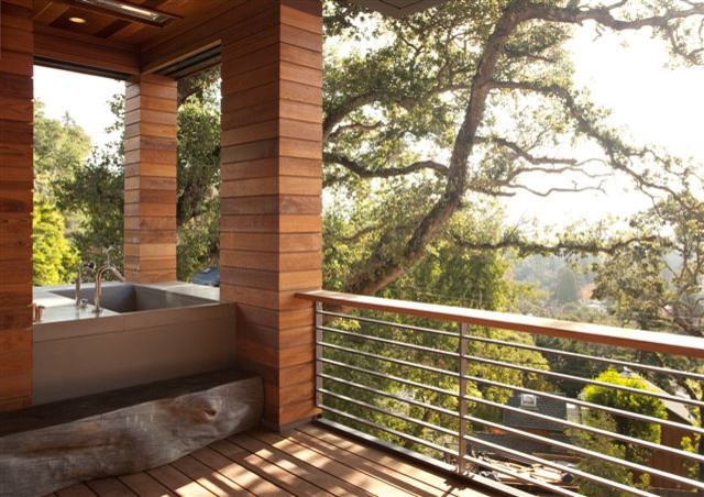 The Hillside House contemporary-deck