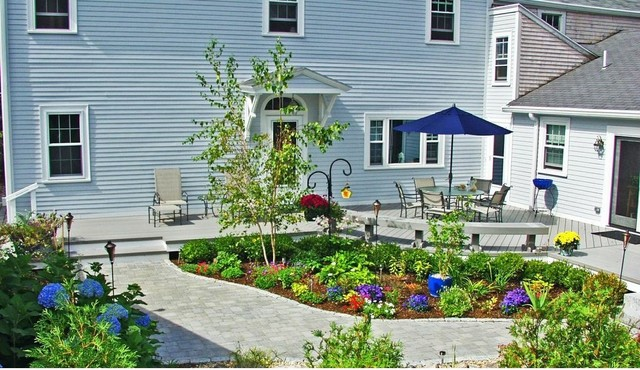 This outdoor oasis in Waltham, MA is the cat's meow! eclectic-deck