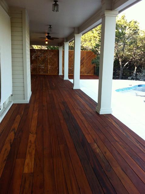 Tigerwood Brazilian Hardwood Deck traditional-deck