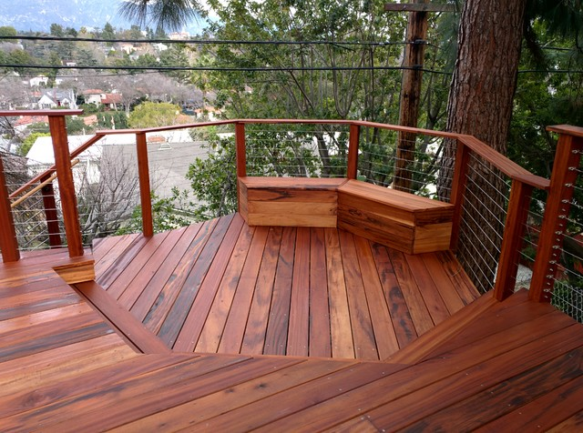 Tigerwood Hillside Deck Pasadena