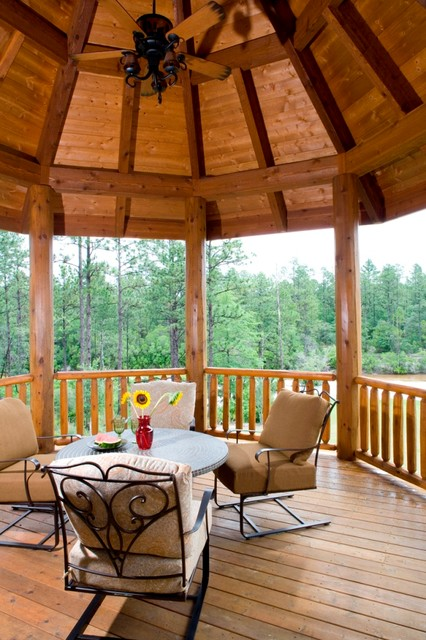 Inspiration for a rustic deck remodel in Other