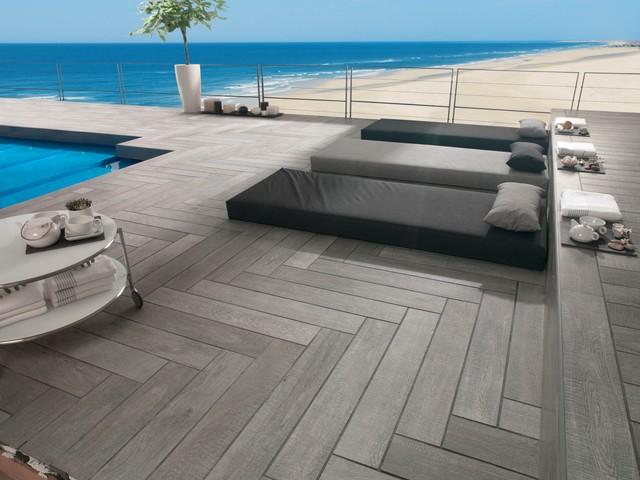 Timber Look Tiles Oxford Antracita Contemporary Deck Perth By Ceramo
