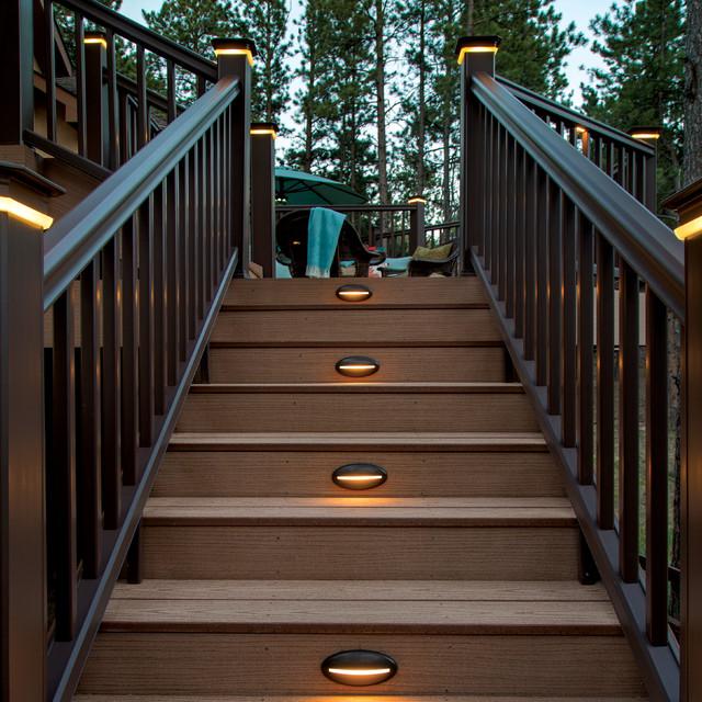 Trex Stair Light: TimberTech Reliaboard Cedar