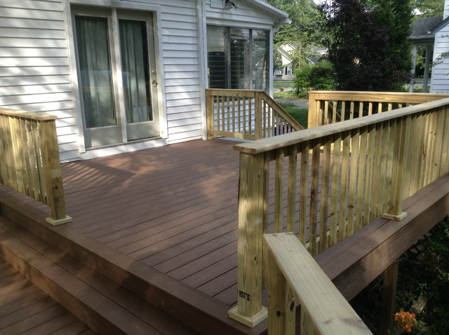 Timbertech Terrain Deck Brown Oak With Pressure Treated