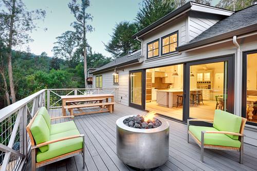 deck fireplace ideas