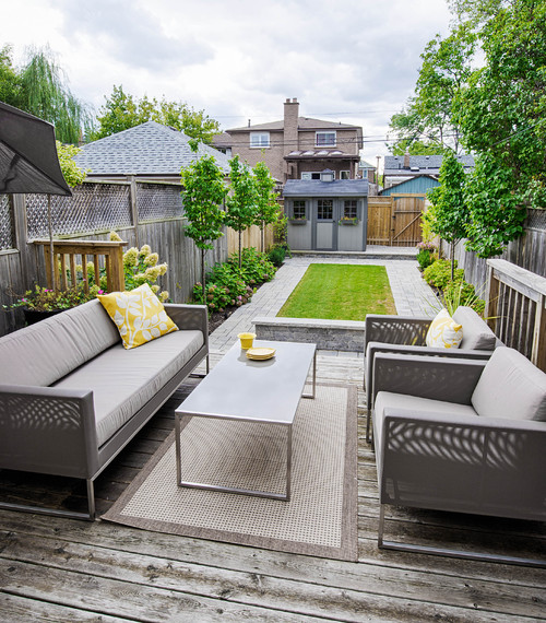 The Toronto house backyard idea known as the affecting spaces layout