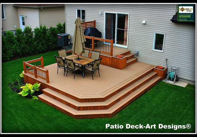 Designs Of Backyard Decks : PATIO DECKART DESIGNS OUTDOOR LIVING  Traditional  Deck  montreal