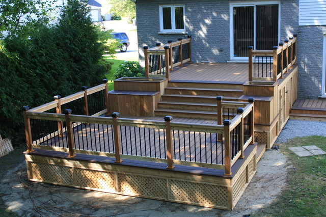 Garden Design With Patio Deckart Design Traditional Deck Montreal By Patio  With Backyard Shade From