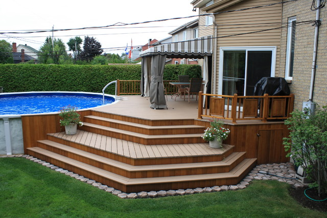 Traditional Deck - Traditional - Deck - Montreal on Pool Deck Patio Ideas id=74261