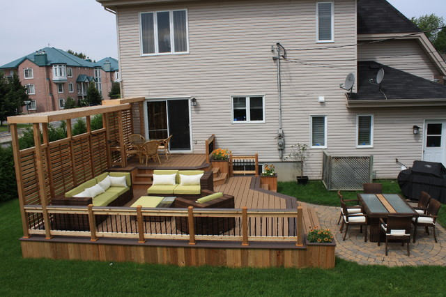 backyard deck and patio ideas  nh backyard, Patio/