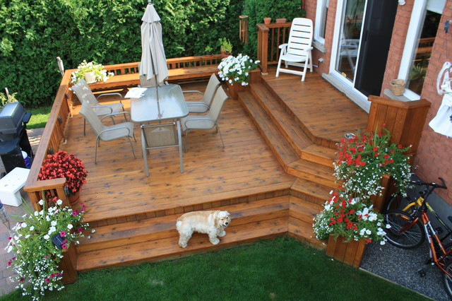Multi Level Backyard Decks :  IpemultileveldeckinGreenwichCTcontemporarydeckothermetro