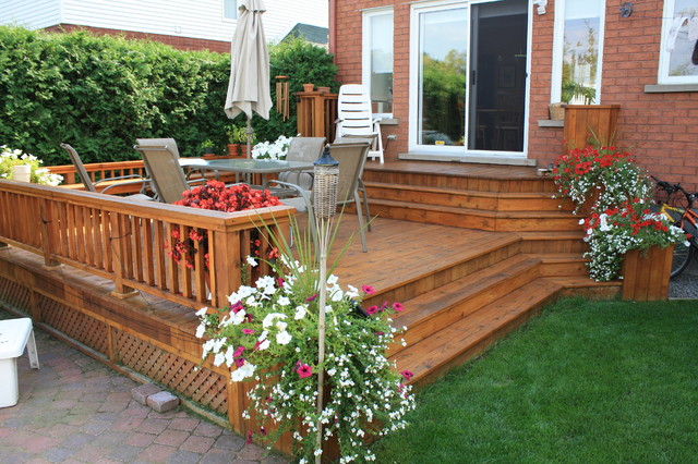Patio deck art designs new 2013 traditional deck for Decks and patios design ideas