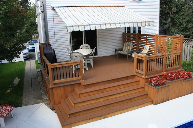 Patio deck art designs new 2013 classique terrasse en for Patio exterieur modele