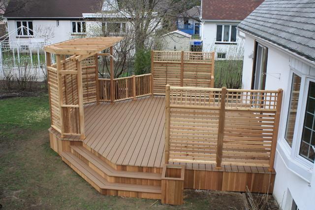 patio deck art design classique terrasse en bois et. Black Bedroom Furniture Sets. Home Design Ideas